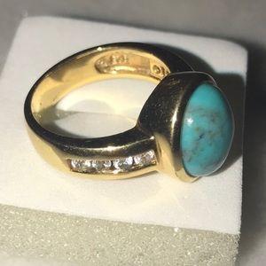 Ross Simons vermeil Turquoise ring